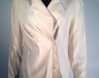 Guy Laroche - paris boutique - cream silk blouse