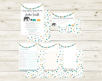 ACROSS THE MILES | Long Distance Baby Shower | Animal Baby Shower | Across the Miles Shower | Elephant Baby Shower | Baby Shower | New Mom