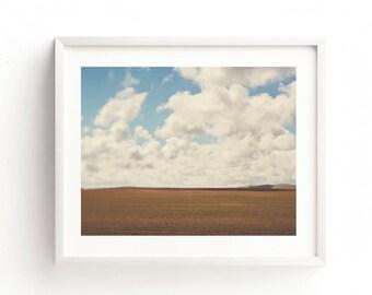 landscape photography, travel print, cloud photo, abstract decor, west coast art, road trip, modern printable, digital file, rustic home