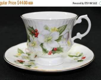 ON SALE Royal Victorian Fine Bone China Tea Cup & Saucer – Made in England