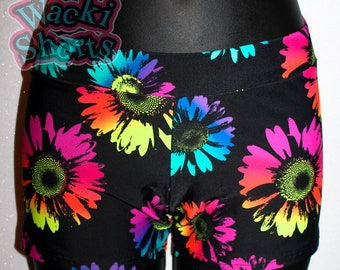 Neon Daisies - Wacki Shorts  - Cheer, Gymnastics, Yoga, Dance