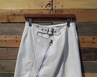0330  American Vintage 50s Styled Leather Skirt