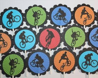 BMX Cupcake Toppers