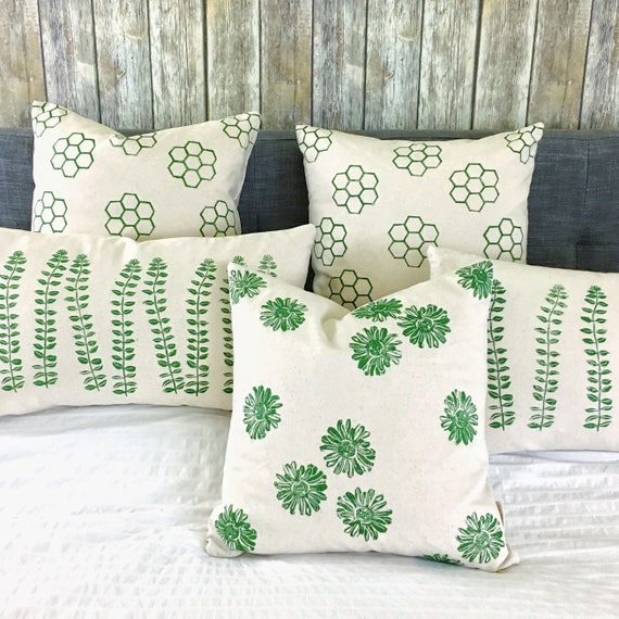 COTTAGE CLOTH pillow covers green farmhouse style urban rustic accent pillows throw pillows toss pillows cushion covers