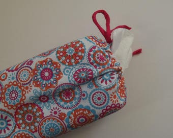 white/pink/blue/orange cotton maxi dispenser