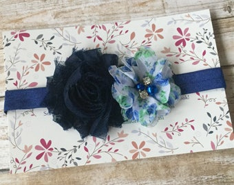 Navy Blue Headband/Navy Blue Baby Headband/Infant Headband/Newborn Headband/Baby Headband/Baby Girl Headband/Girl Headband/Baby Hair Bow