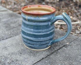 16 oz Blue Stoneware Mug