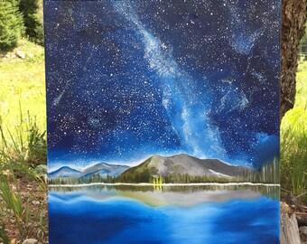 Starry Mountain *original painting*