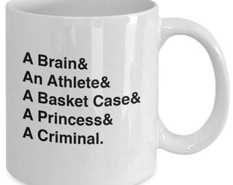 THE BREAKFAST CLUB Character Names Mug - 80s Movie Fan Gift - John Hughes - 11 oz white coffee tea cup