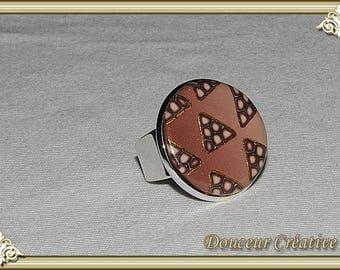 Golden beige Brown ring 102022 patterns