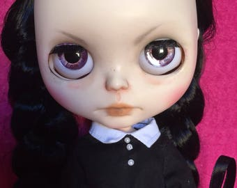 Wednesday Addams ooak Blythe