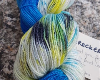 Hand dyed sock yarn BFL 100g Wreckers