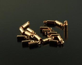 50 PCs end caps rose gold 8 x 2.5 mm (f. 2 mm band)