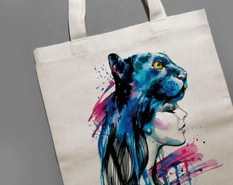 Cat hat canvas tote bag Black panther party Wakanda Mindfulness gift Canvas tote bag Girl power Birthday gift Girlfriend gift Cat lover gift
