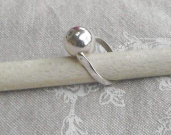 "Silver ""Ball"" ring"