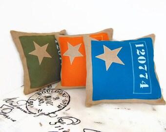 Housse de coussin en toile de jute et coton de style industriel - 3 coloris au choix- Décoration industrielle par Pleasant Home