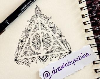 Deathly Hallows Tattoo Design