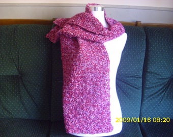 beautiful crocheted wool scarf by hand to adult