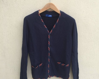 Beams Button Up Cardigan Jacket Sweater
