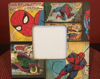 Spiderman Picture Frame, Spiderman Frame, Marvel Frame, Spiderman Comics, Superhero Frame