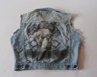 70's Denim West Sleazefied Skulls & Spikes