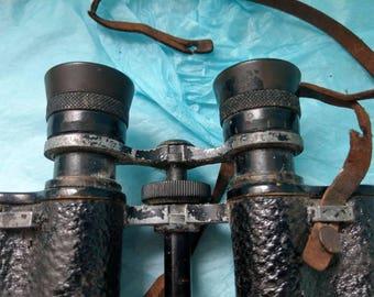 WW2 Rare Heliolux H.V.C 51871 Binoculars 12 x 72 64 56 restoration project Original