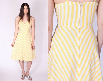Act I Striped Yellow Sundress