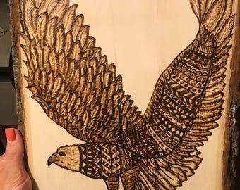Eagle Woodburning