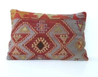 Vintage kilim pillow large 40x60 cm / 16x24 inch