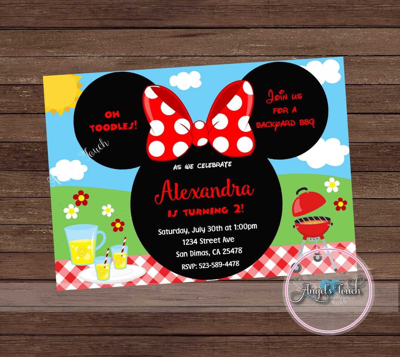 minnie mouse party invitation minnie mouse backyard bbq party
