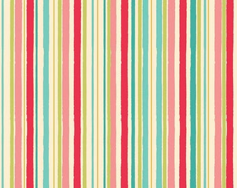 Riley Blake Georgeous Stripe  Cotton Quilting Fabric Mint