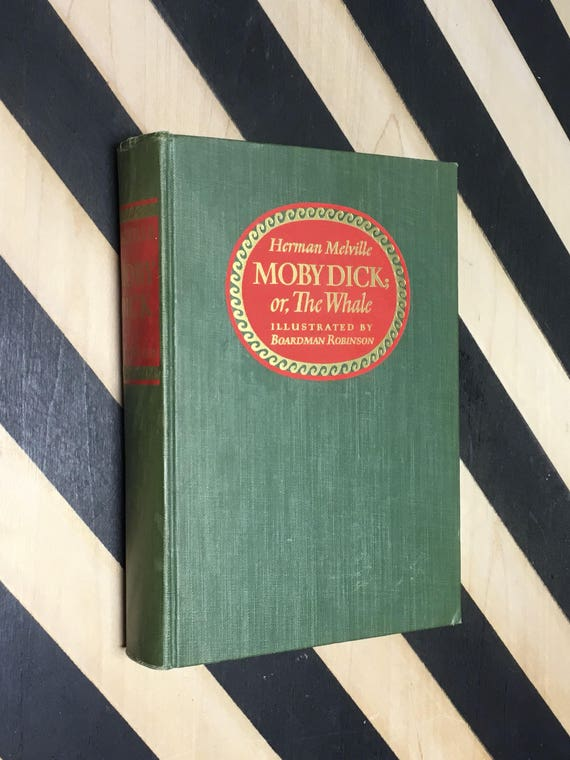 Moby Dick; or, The Whale by Herman Melville With an Introduction by Clifton Fadiman. Illustrated by Boardman Robinson (1943) hardcover book