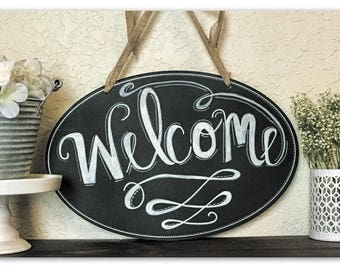 Farm House Style Chalkboard Welcome Sign