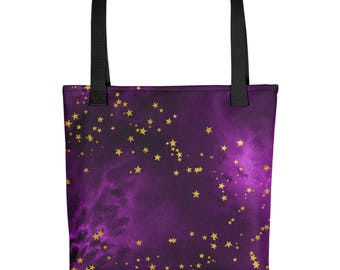 Pink Starry Night Tote bag