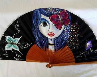 RANGE, hand painted fan