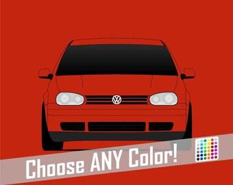Volkswagen Golf GTI MK 4 Poster // R32 Print // VW // MK4