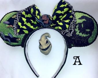 Oogie Boogie Ears, The Nightmare Before Christmas Ears, Jack Skellington Ears, Mickey Ears