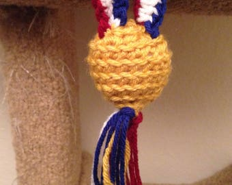 Olympic gold medal cat toy
