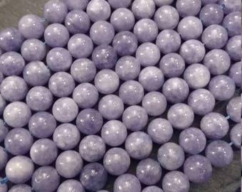 8mm Lilac Blue Quartzite (Immitation Aventurine) Beads Full 15 inch Strand