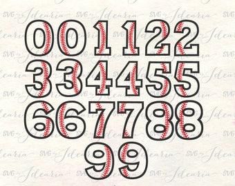 Baseball Numbers svg, Baseball Svg, baseball mom svg, baseball monogram svg, sports svg, baseball stitches svg, softball svg, baseball dxf
