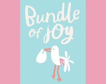 Bundle of Joy, A6 New Baby Card