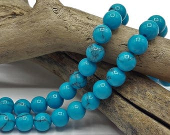 Pearl turquoise gemstone - 6 mm in diameter - set of 25/50 - natural turquoise bead 6 mm - Ref A199