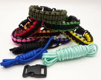 Bracelet Kit in paracord - Kit Bracelet-survival color choices - Notice in picture - A089
