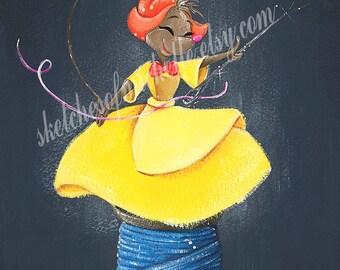 LIMITED Suzy Mouse Fine Art Print