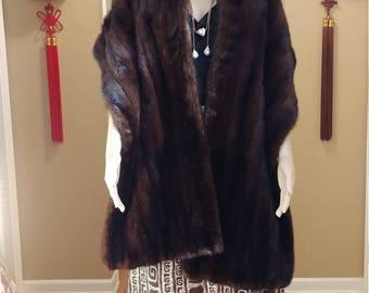 Mink Fur Shawl Palatine Stole Cape Wrap Shoulder Warmer Stunning High Quality Perfect 13 x 82