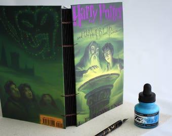 Half Blood Prince Harry Potter Blank Journal - Travel Journal - Sketchbook  - Notebook - Handbound Journal - Handmade Book  - Drawing