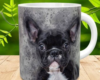 French Bulldog Gift Mug, Oil painted French Bulldog on a gift mug, Bulldog mug