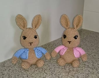 Bunny stuffie, cute little rabbit, kids, babies, soft toy. MADE TO ORDER