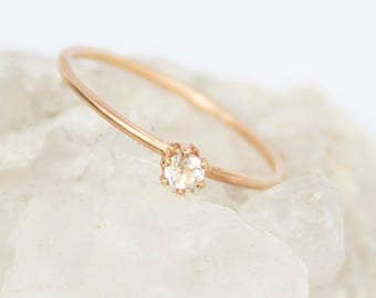 Topaz Solo Statement Stacking Ring