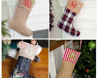 Burlap stocking | Etsy